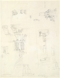 Drawing from a set of 16 architectural details in N. India made between 1786 and 1792 1811